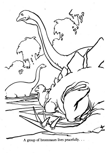 Dinosaurs wallpaper called Universe of Energy Brontosaurus coloring sheet