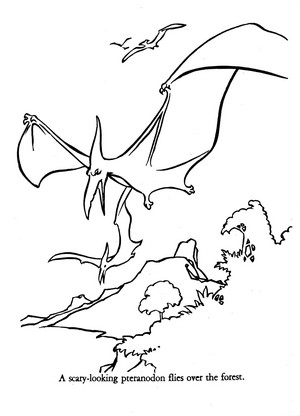 Universe of Energy Pteranodon coloring sheet
