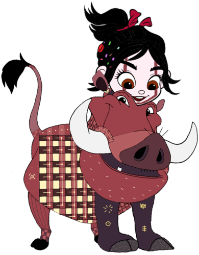 Vanellope von Schweetz wolpeyper possibly containing anime titled Vanellope dressed as Pumbaa 4