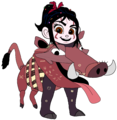 Vanellope dressed as Pumbaa 5 - vanellope-von-schweetz photo