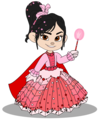 Vanellope in a Princess japon, jurk (Still President)