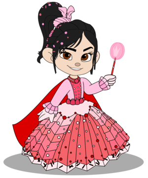 Vanellope in a Princess گاؤن, gown (Still President)