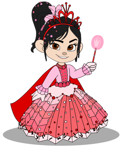 Vanellope von Schweetz Hintergrund probably containing Anime entitled Vanellope in a Princess kleid with her Crown (Still President)