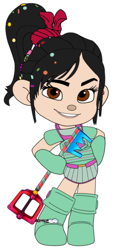 Vanellope von Schweetz karatasi la kupamba ukuta entitled Vanellope in her Ballistic Armour and with her Keyblade
