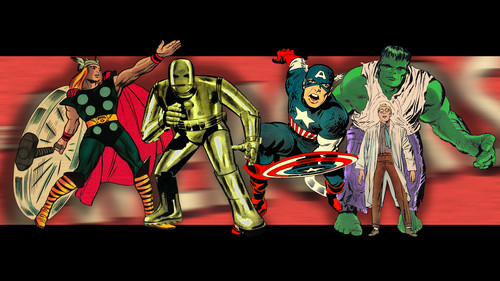 Avengers: Earth's Mightiest ヒーローズ 壁紙 containing アニメ entitled Vintage Original Avengers