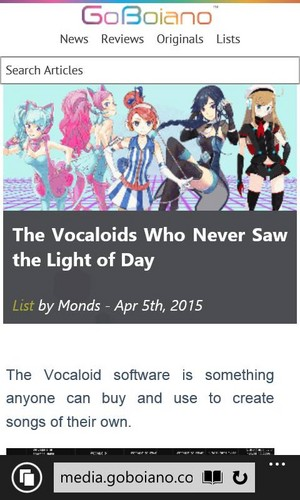 Vocaloids who never saw the light of Tag