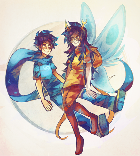 Homestuck fond d'écran containing animé titled Vriska and John