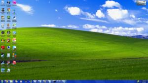 Windows XP Aero Theme No Window