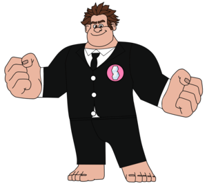 Wreck-It Ralph in a Night Out Suit (with his Sugar Rush Badge)
