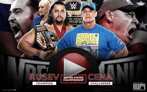 WWE wallpaper titled WrestleMania 31 - Rusev vs Lana