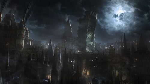 Video Games wallpaper possibly containing a fountain called Yharnam (Bloodborne)