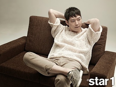 JYJ wallpaper possibly with a neonate and a recliner called Yoochun for Star1 Magazine April 2015 Issue