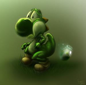 Yoshi plops...