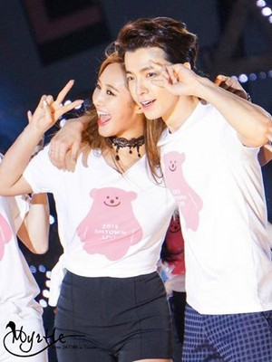Yuri and Donghae SMTOWN in Taiwan