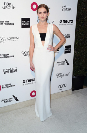 Zoey Deutch at the 23rd Annual Elton John AIDS Foundation Academy Awards