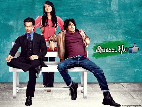 Qubool Hai Wallpaper With A Park Bench Called Asad Ayaan And Zoya