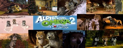 Alpha and Omega 2: a howl-iday adventure Hintergrund called collage