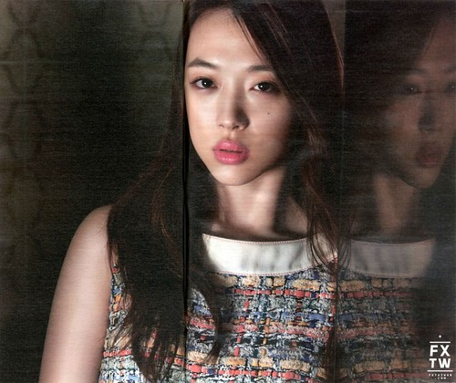 F(x) wallpaper possibly with a portrait called f(x) Sulli High Cut 2015