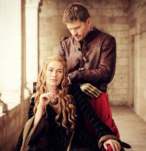 Game of Thrones karatasi la kupamba ukuta probably with a mitaani, mtaa entitled Jaime & Cersei Lannister