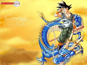 goku con el dragon
