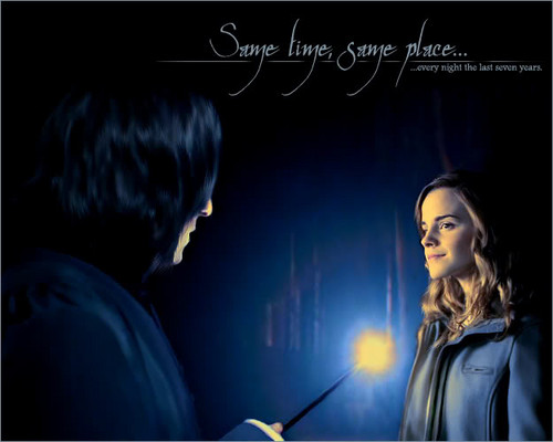 hermione granger fondo de pantalla called hermione and prof. snape 2