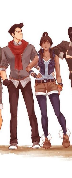 modern mako and Korra