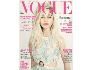 on a cover of Vogue Magazine