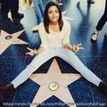 paris jackson visit michael jackson walk of तारा, स्टार fame hollywood 2015