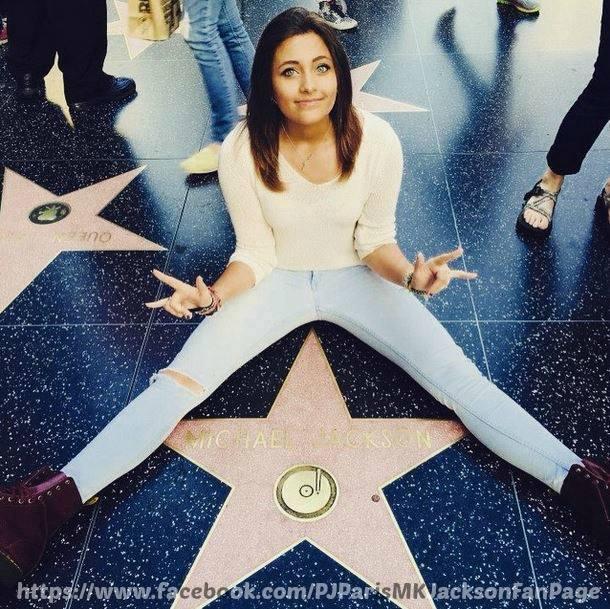 paris jackson visit michael jackson walk of 별, 스타 fame hollywood 2015