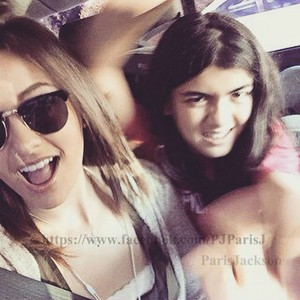 paris jackson with her bro blanket jackson