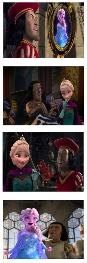 Elsa/Farquaad Photobooth