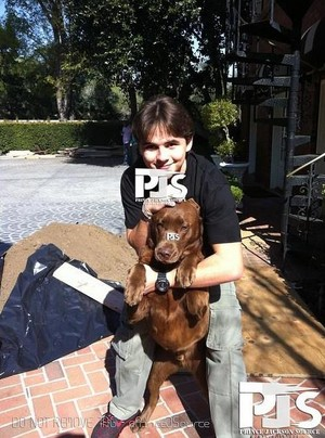 prince jackson with his dog kenya