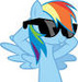 rainbow dash cool version or super cool - rainbow-dash icon