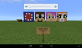 stampy amy lee and squid built in Minecrat pe