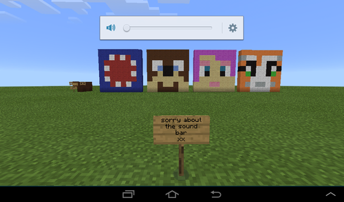 Stampy long nose wallpaper possibly with a sign entitled stampy amy lee and squid built in Minecraft pe