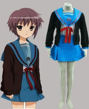 suzumiya haruhi no yuutsu Nagato installed Sweater uniforms