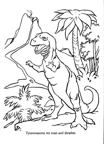Dinosaurs wallpaper called Universe of Energy T-Rex coloring sheet