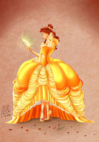Beauty and the Beast wallpaper containing a bouquet entitled               Belle