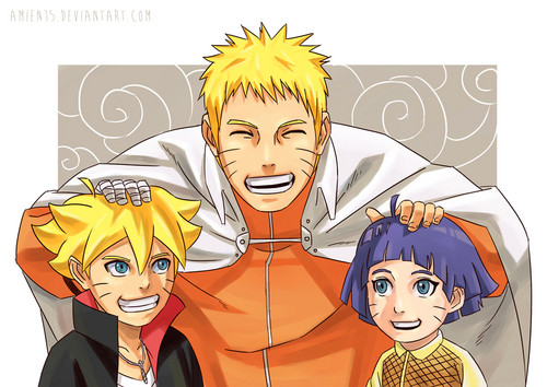 Naruto Uzumaki (shippuuden) fond d'écran with animé called *Bolt / Naruto / Himawari*