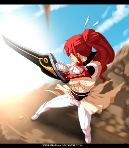 Erza Scarlet wallpaper possibly containing a wicket entitled *Erza Defeat Jerome*