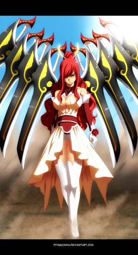 Erza Scarlet wallpaper entitled *Erza's New Armor*