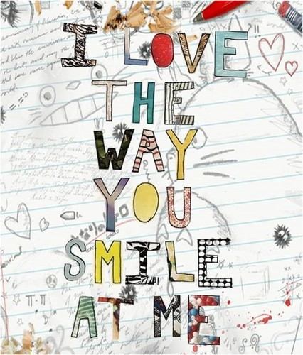 Quotes wallpaper possibly containing anime called                 I ♥ Your Smile!