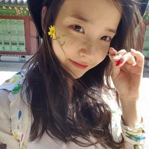 [IUSTAGRAM] 150503 ‎IU‬ updated her Instagram with this cute foto with a small flower!