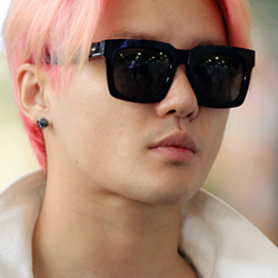 JYJ kertas dinding containing sunglasses called Kim Junsu