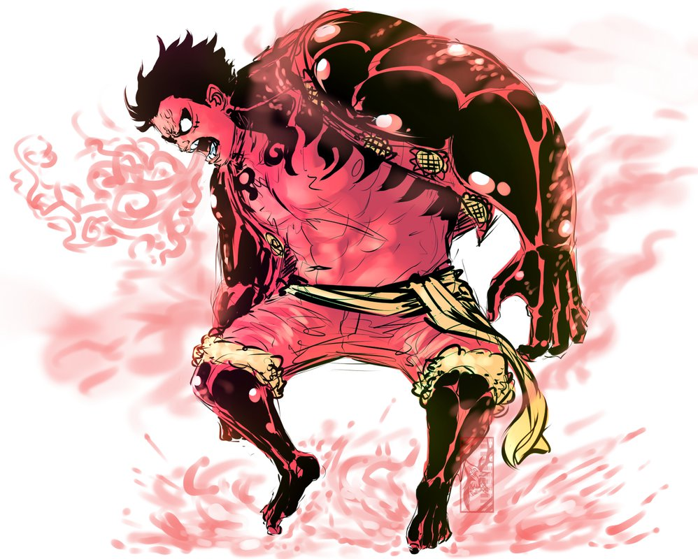 Luffy Gear Fourth Pound Man One Piece All Arrembaggio