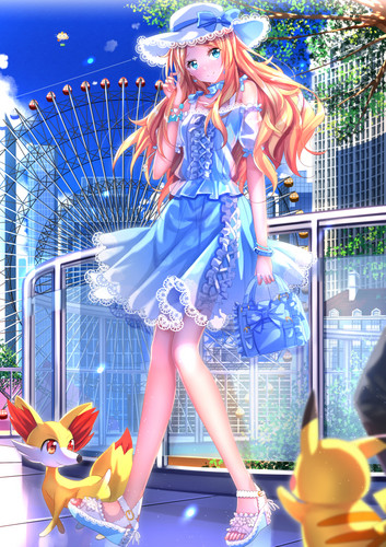 pokémon wallpaper titled Pokemon Serena