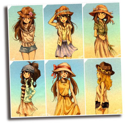 Pokémon wallpaper containing anime called  Pokemon girls