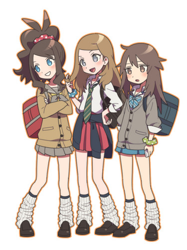 Pokémon wolpeyper possibly with anime entitled Pokemon girls