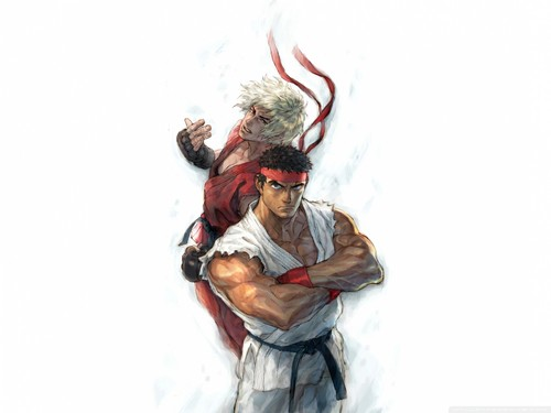 Street Fighter Wallpaper Probably Containing A Sign Titled Ryu And Ken