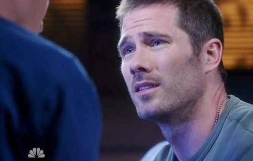 "Luke Macfarlane Hintergrund possibly containing a Tennis pro and a portrait called ""The Night Shift"" Episode 2.4 The One With Luke Macfarlane"